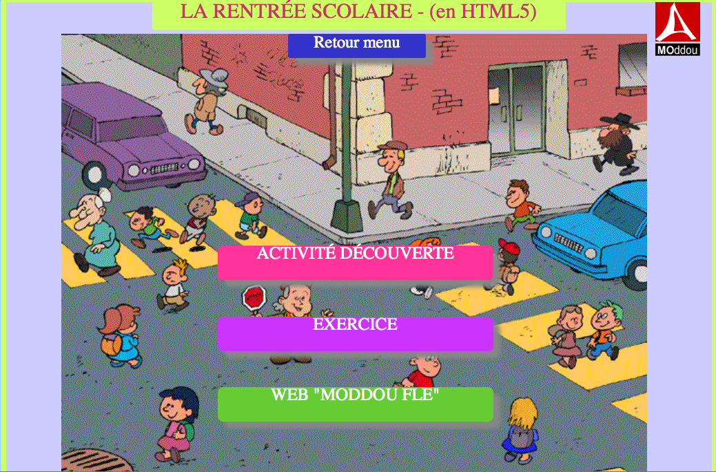 La rentrée scolaire – activité en HMTL5 (compatible tablettes et smartphones)