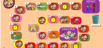 Jeu de l'oie des « enfants nomades », ressource TBI-TNI – version flash