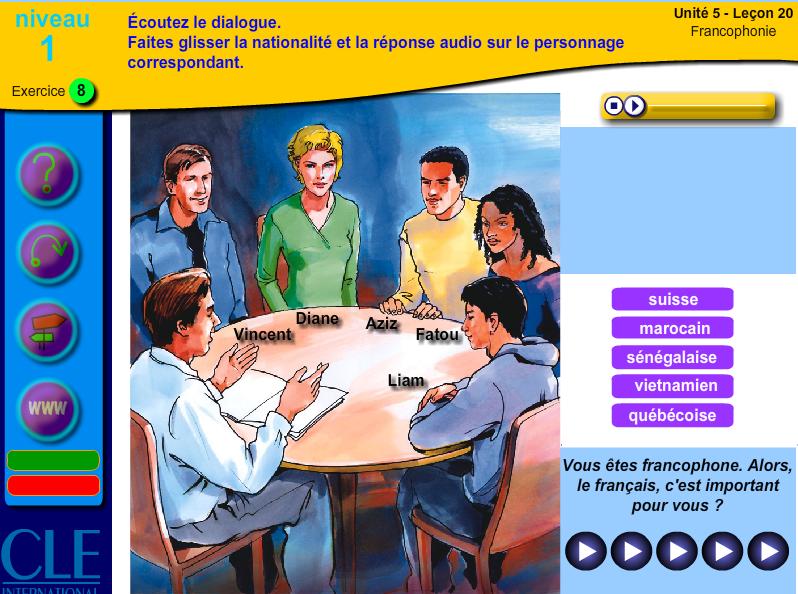Une activité sur le thème de la Francophonie