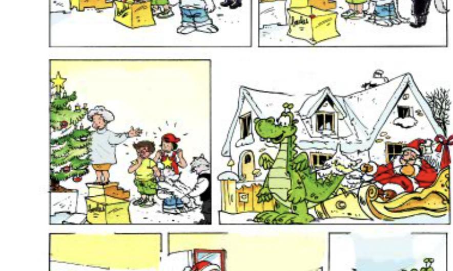 """Activité de Noël, extrait de de BD de la méthode pour enfants """"Alex et Zoé"""". Joyeux Noël !"""
