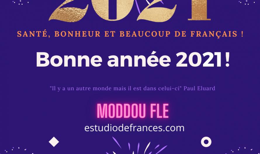 Bonne année 2021 ! Santé, bonheur et beaucoup de français !