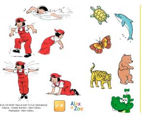 Activité de compréhension orale pour enfants sur les animaux.