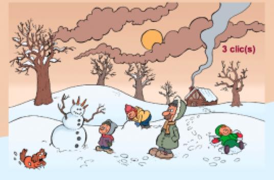 Petit jeu sur le thème de l'hiver