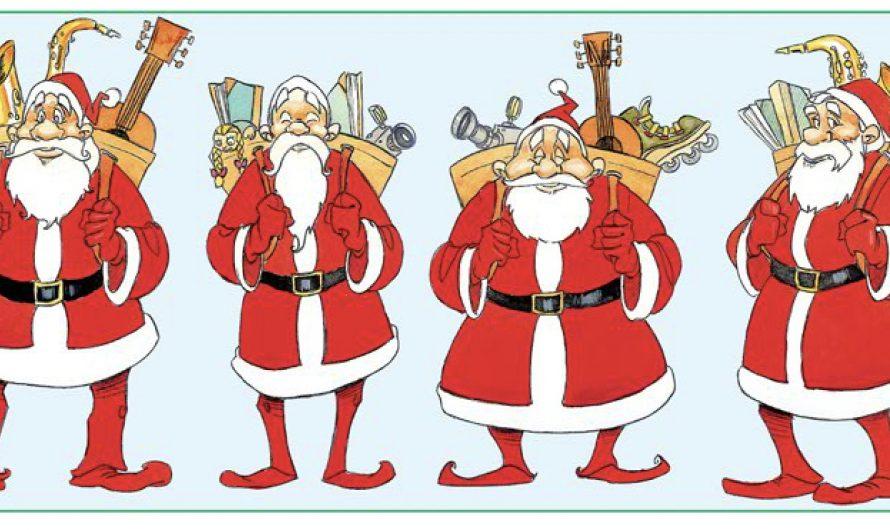 Liste du père Noël. Associez l'audio au bon père Noël. Joyeuses fêtes !